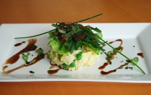 Potato and rocket salad