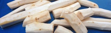 Peeled horseradish