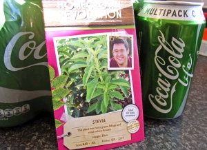 Stevia seeds and stevia-sweetened 'green' Coke