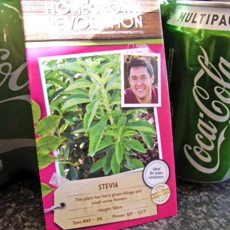 Stevia seeds and stevia-sweetened 'green' Coke