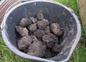 Very difficult dried lumps of compost