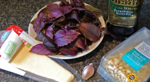 The makings of purple pesto?