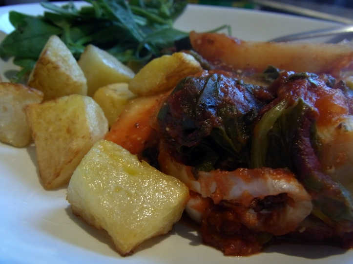 Serve with some of those turnips from earlier, boiled then fried crisp