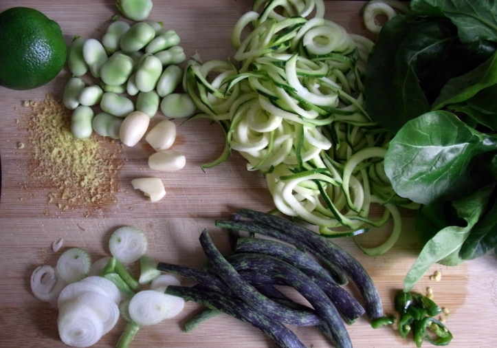 Ingredients for a green feast