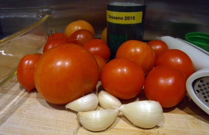 Preparing to roast tomatoes