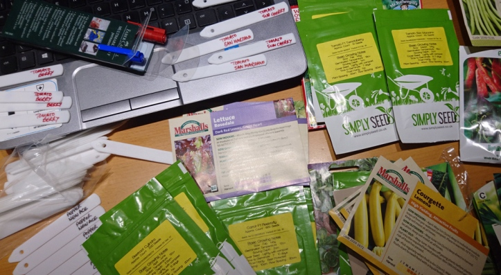 Back in March, prepping seeds and sowing plan.