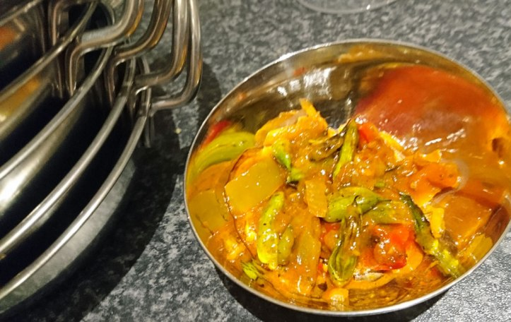 ... made into Moongre Sabzi, an Indian radish pod curry dish