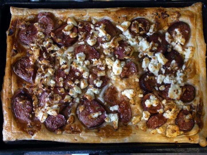 Fig and feta tart